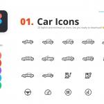 Figma专用20款时尚简约的汽车图标(FIG)