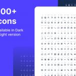 在黑暗和轻型版本,Hellow提供800多个图标