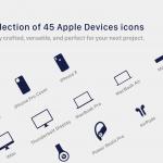 45个苹果设备图标集