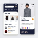 电子商务移动商店应用UI工具包模板 E-commerce Store Mobile App UI Kit Template