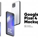 Google Pixel 4 正反面套装样机(PSD)