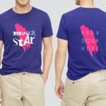 逼真质感的服装设计T恤裤子VI样机展示模型版mockups