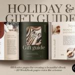 节日礼物指南手册设计模板CANVA,InDesign