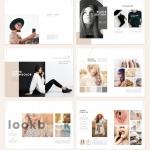 极简风格Lookbook时装杂志图册模板