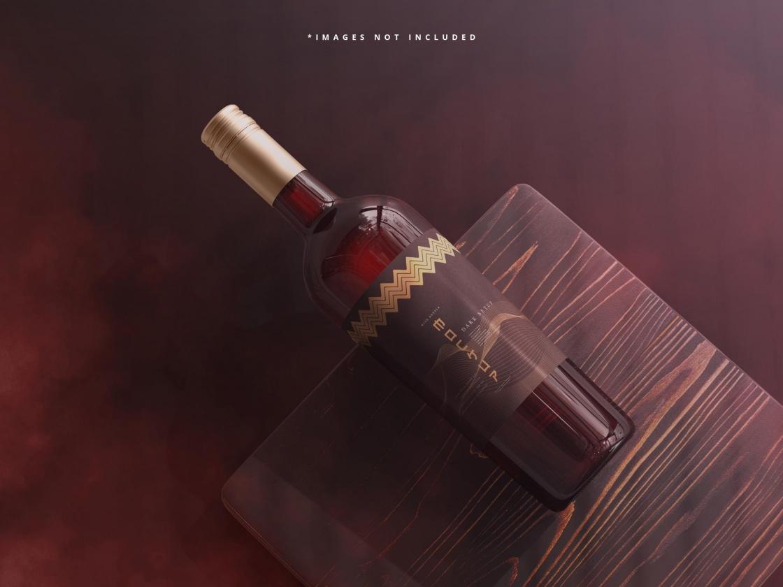 酒瓶品牌模型免费 Psd