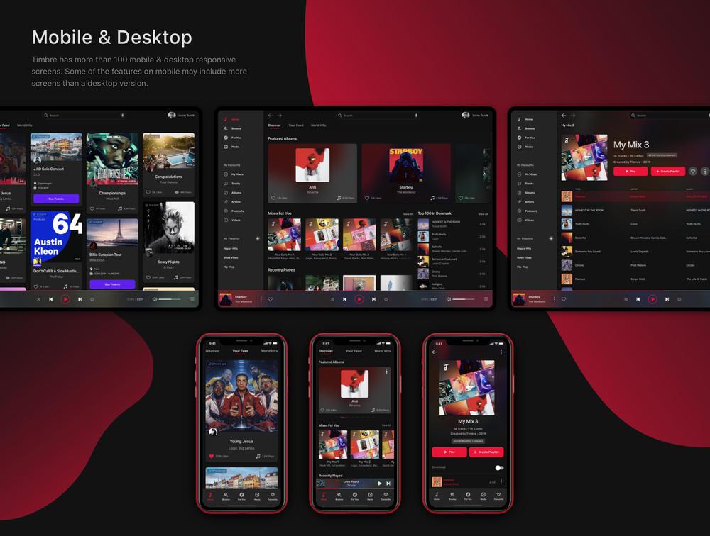 响应音乐UI套件设计系统,音色应用 音乐应用与设计系统