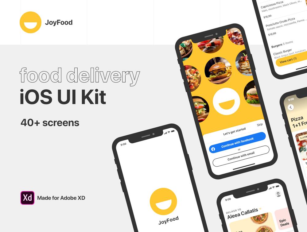 送外卖的iOS UI套件,JoyFood – 送外卖的iOS UI工具包