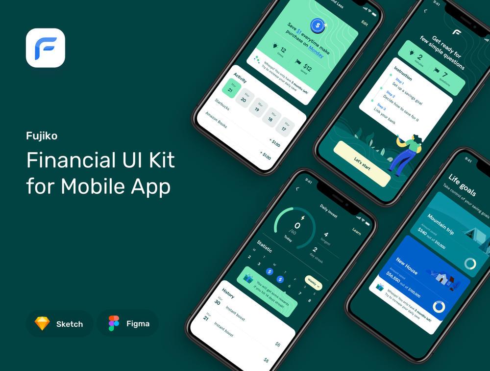 高级金融移动应用UI套件金融UI工具包