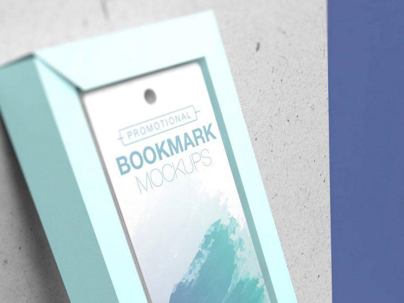 书籍装帧书签包装设计VI样机展示模型