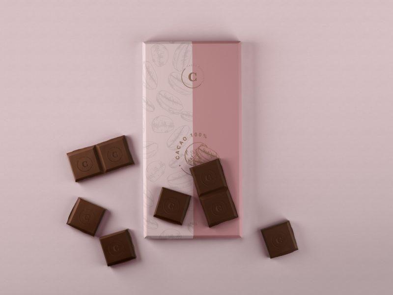 纸质巧克力包装纸样版