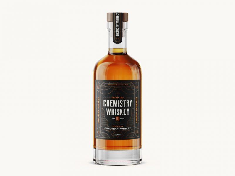 威士忌瓶样机模板高级Psd