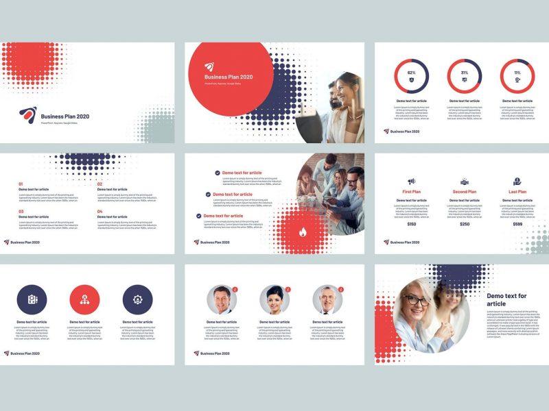 2020商业计划书专用PPT模板[PPTX]