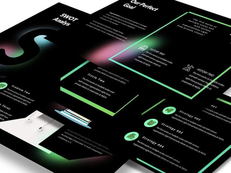 创意网页设计机构PPT模板(PPTX)