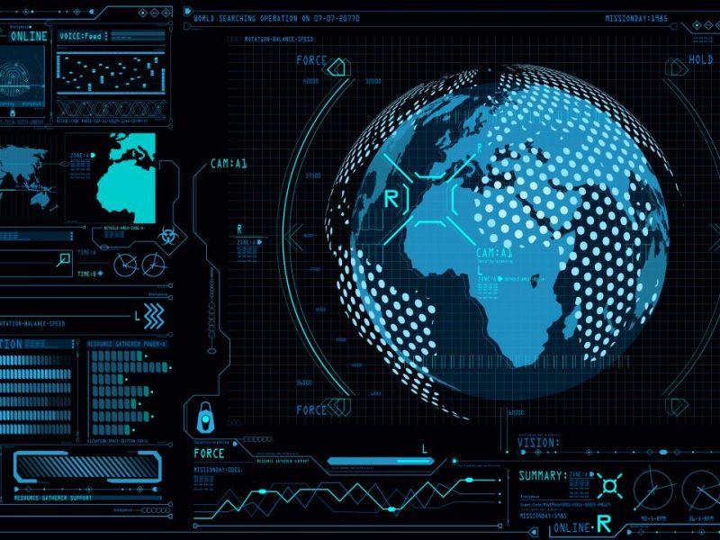 Ui与控制中心面板命令板中的地球地球仪3d界面